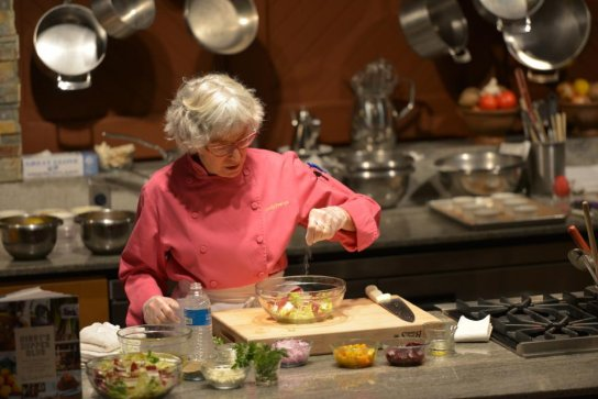 Cindy Pawlcyn demonstrates her cooking