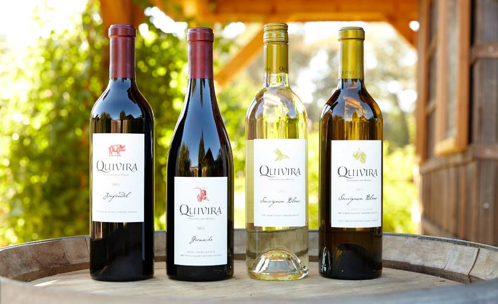 Visitors to Quivira Vineyards & Winery will Taste Sauvignon Blanc, Grenache, Syrah, & Zinfandel