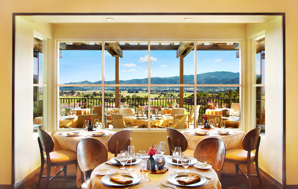 A Glimpse of the Panoramic View from The Restaurant at Auberge du Soleil