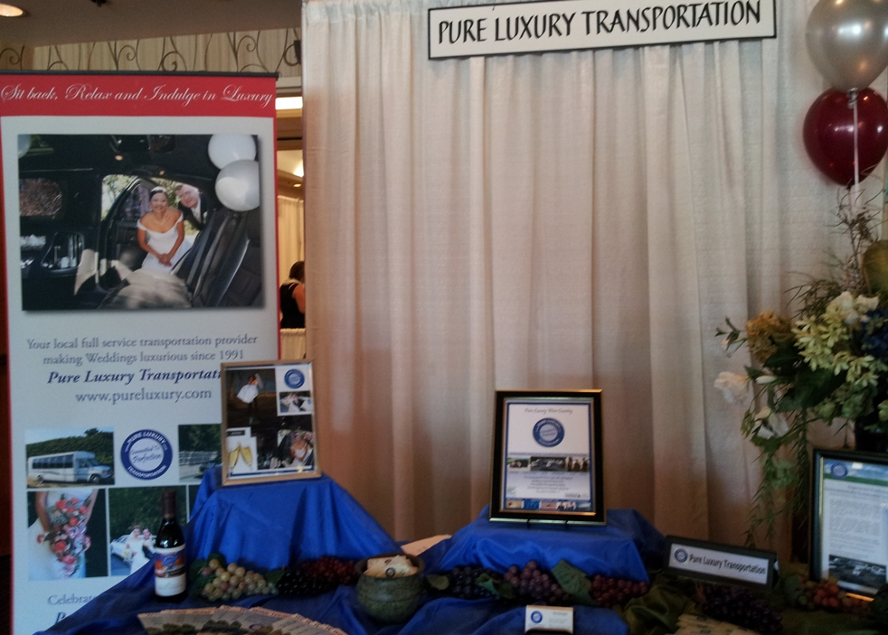 The Pure Luxury Transportation Booth at the Dream Day Bridal Show in October, 2013