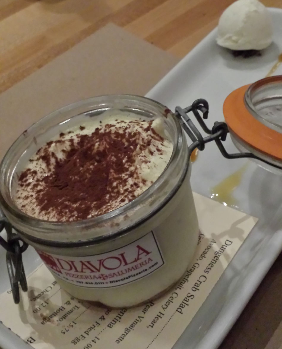 Diavola Tiramisu was  Decadently Paired with Pedroncelli Vintage Port