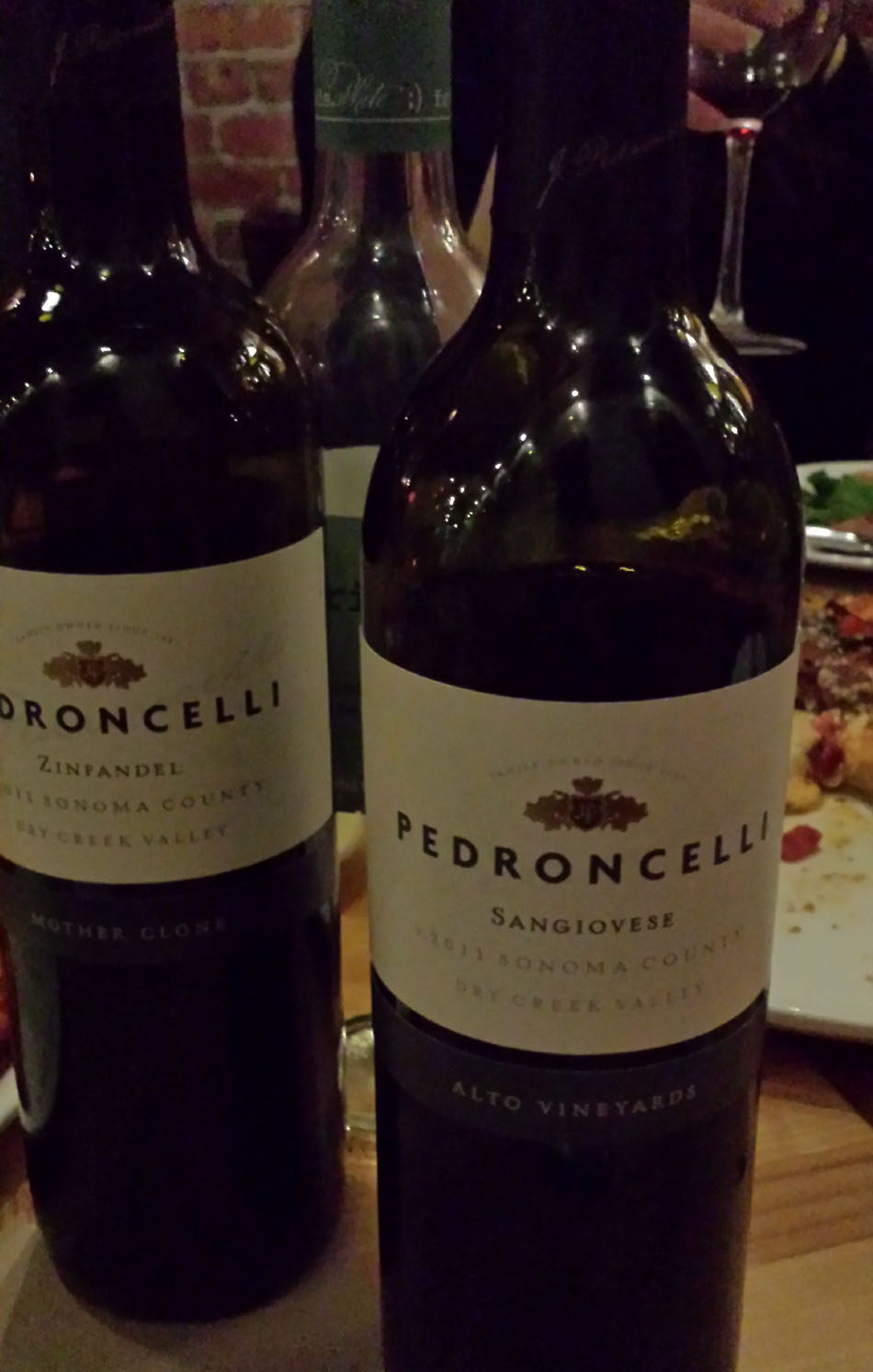 Outstanding Pedroncelli Zinfandel & Sangiovese Wines
