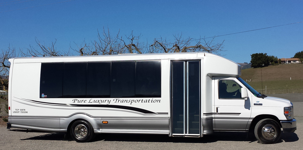 Pure Luxury Transportation Shuttling Roche Winery's Guest to and from Offsite Parking