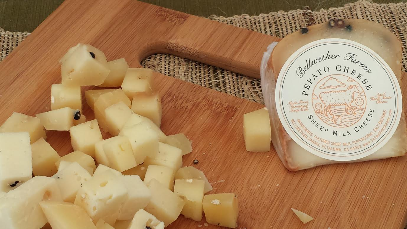 Delicious Bellwether Farms Pepato Cheese with Peppercorn