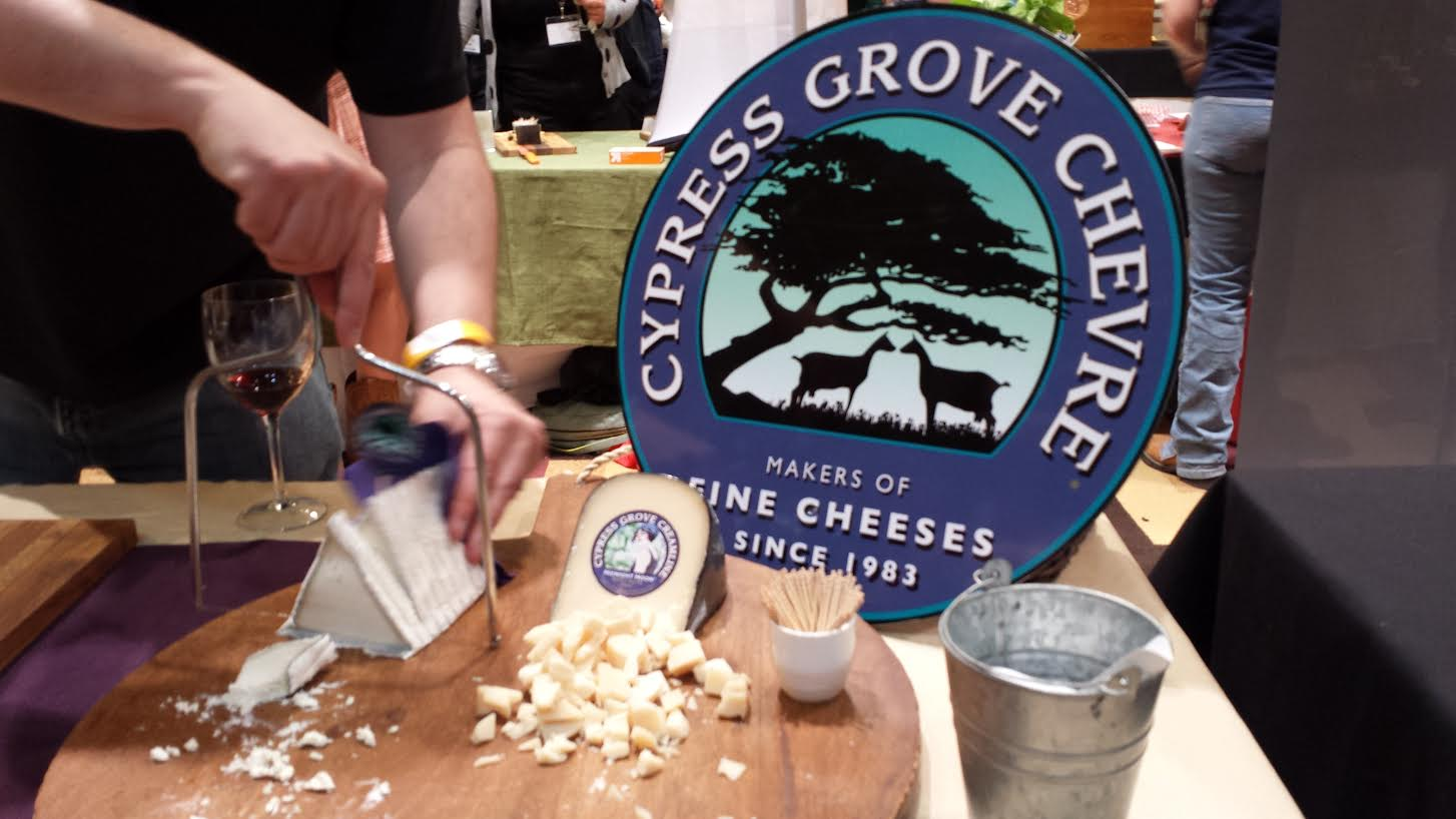 Chatting on Friday Evening's Meet the Cheesemakers & Their Cheeses with Jason from Cypress Grove Chevre and Enjoying Pairings with Sonoma Valley Portworks