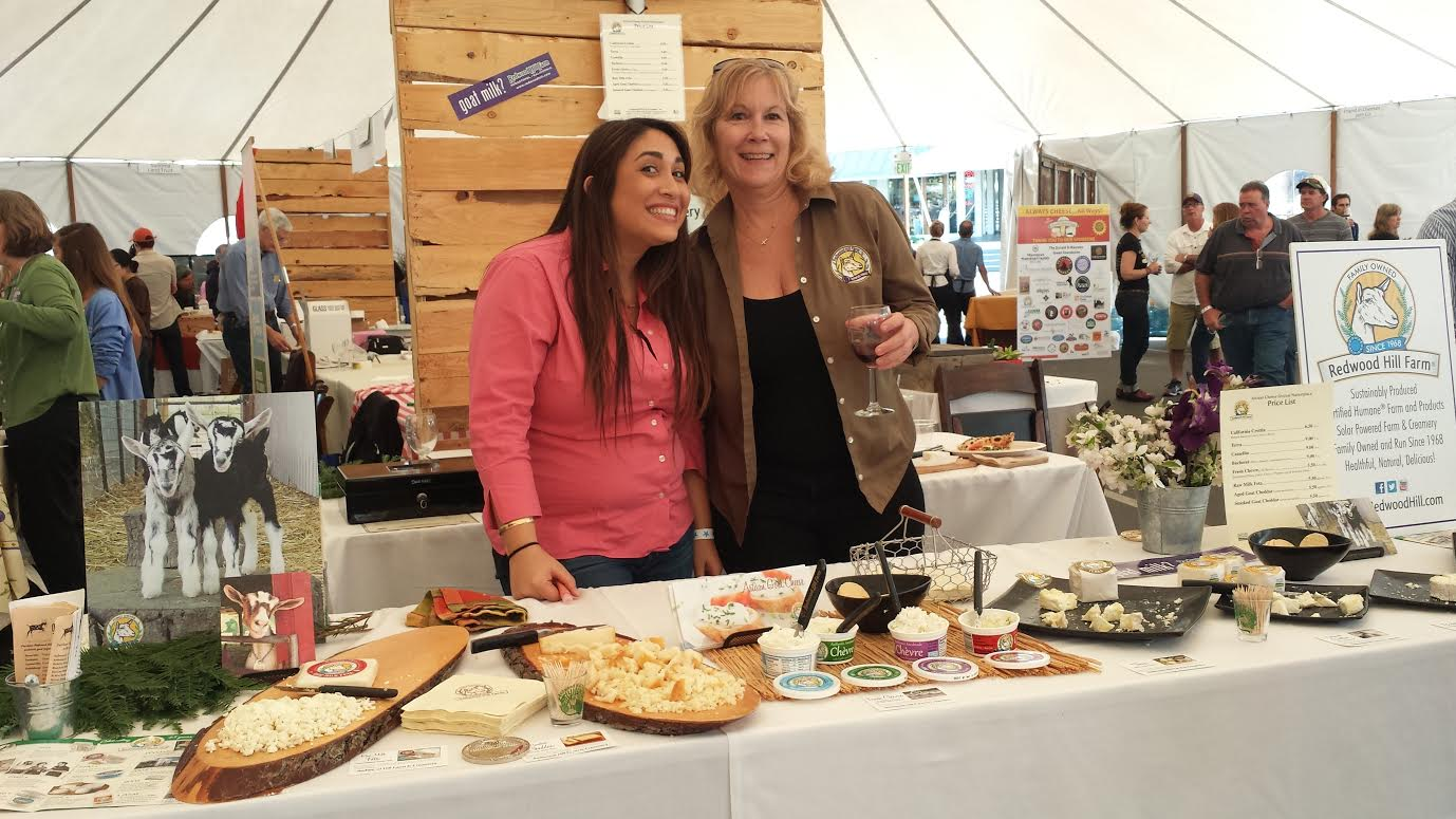 Smiles from the Crew at the Redwood Hill Farm from Sunday's Artisan Cheese Tasting & Marketplace