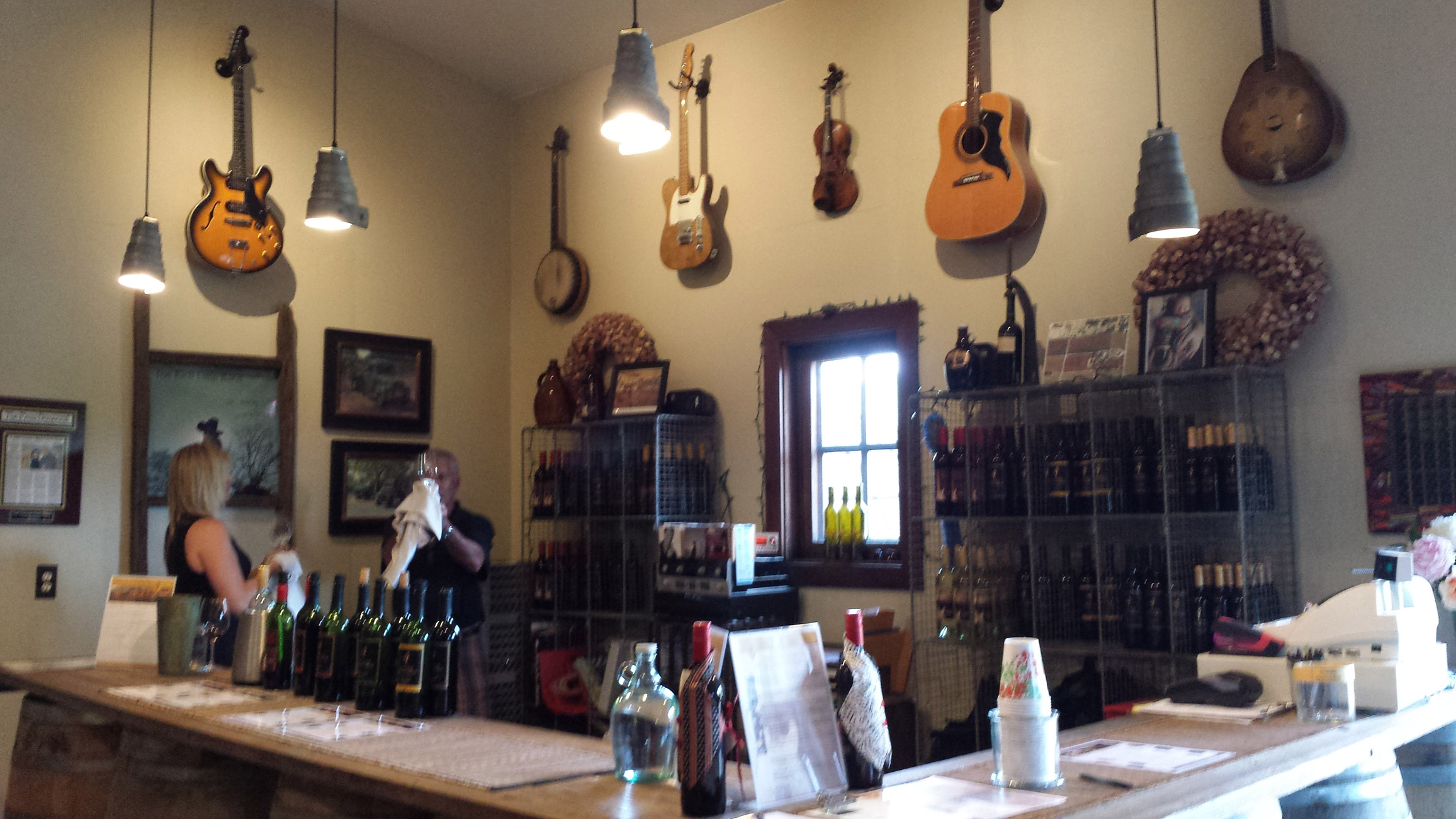 Inside the Tasting Room at Little Vineyards