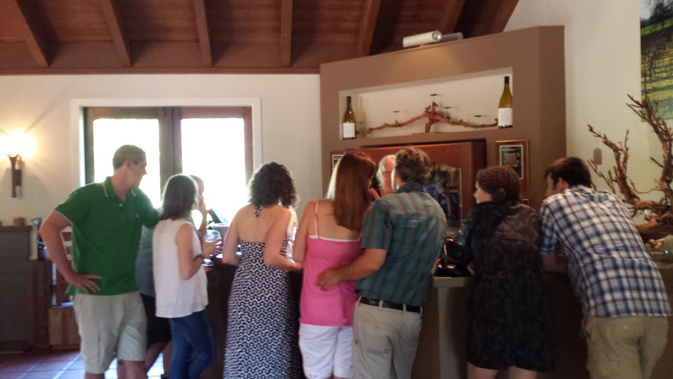 At One of the Tasting Bars Inside Landmark Vineyards' Tasting Room
