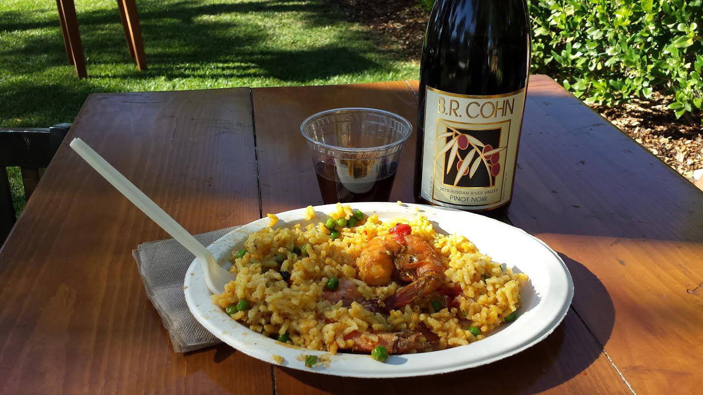 Paella and Plenty of B.R. Cohn Pinot Noir