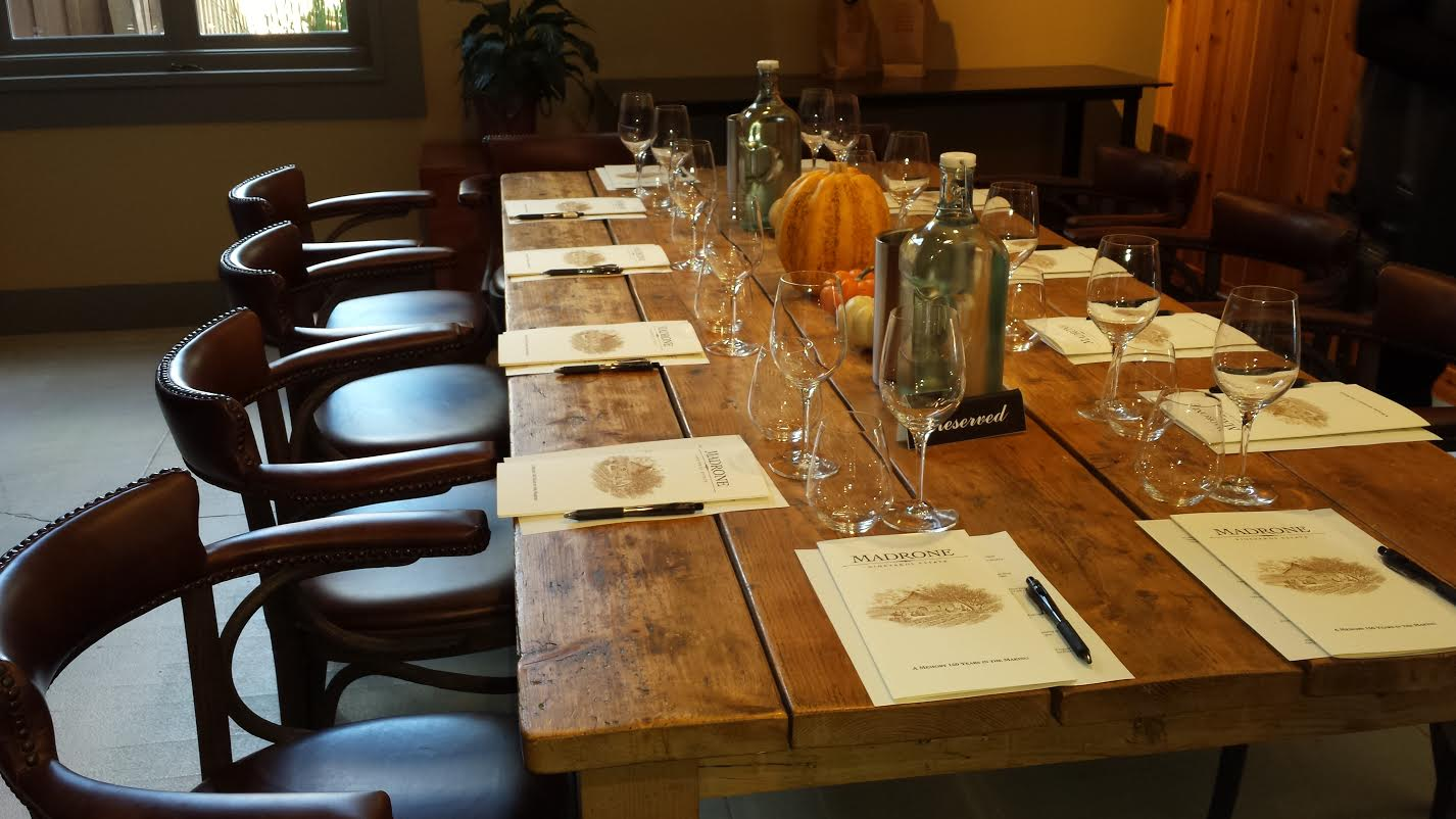 Private Reserved Table for Our Seated Tasting at Madrone Vineyards Estate - Valley of the Moon Winery