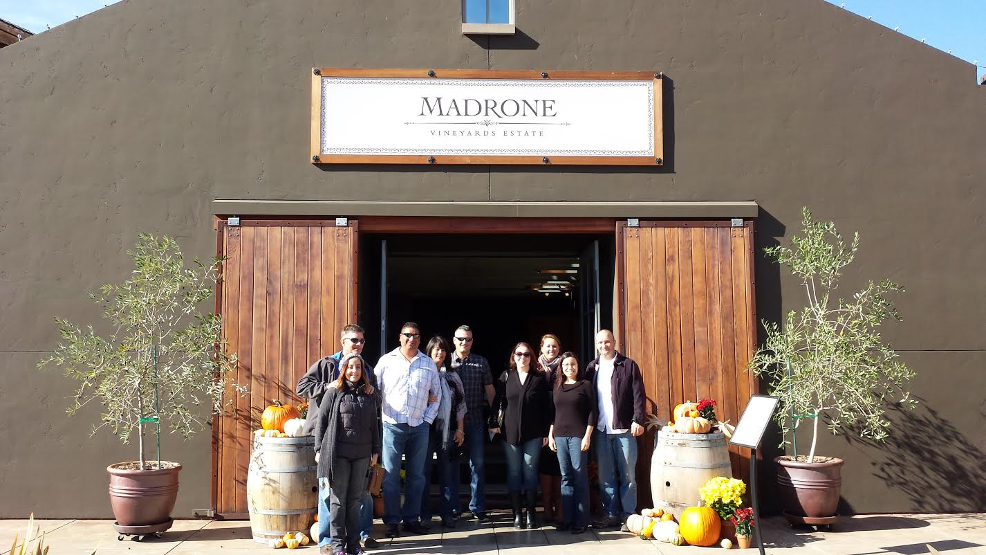 Members of the Pure Luxury Team at Madrone Vineyards Estate - Valley of the Moon Winery