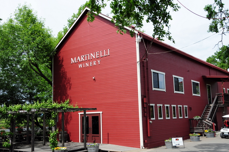 Martinelli Winery Tasting Room Located in a Historic Turn-of-the-Century Hop Barn
