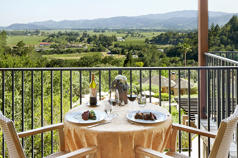 Terrace Table for Two at The Restaurant at Auberge