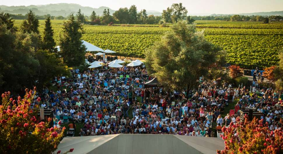 A Photo from a Past Concert from the Rodney Strong Vineyards' Archives
