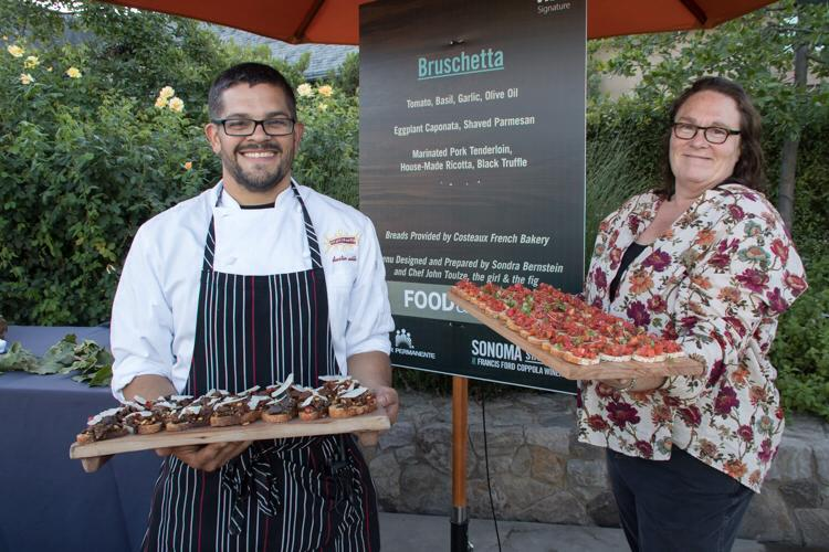 The Girl and the Fig - Sondra Bernstein & Chef John Toulze at Taste of Sonoma, photo by Sonoma Wine Country Weekend