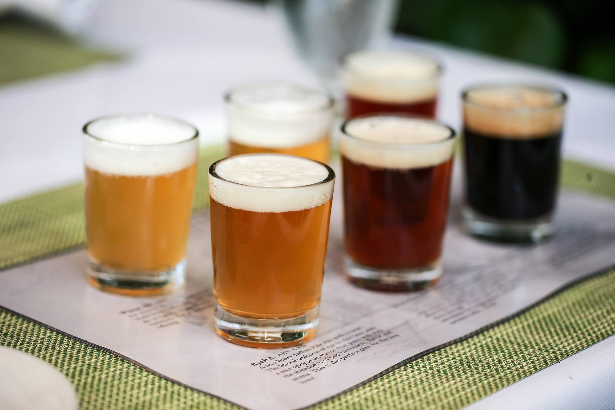 A Tasting Sample at Calistoga Inn of Napa Valley Brewing Company