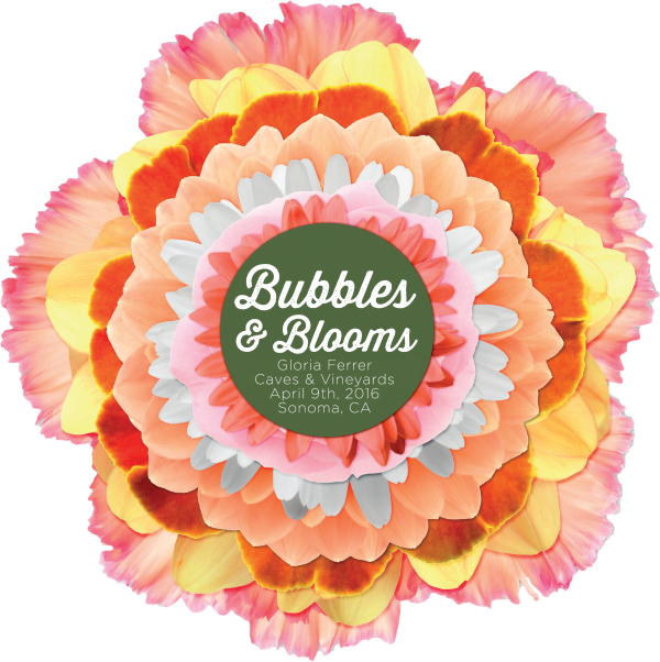 Bubbles and Blooms at Gloria Ferrer