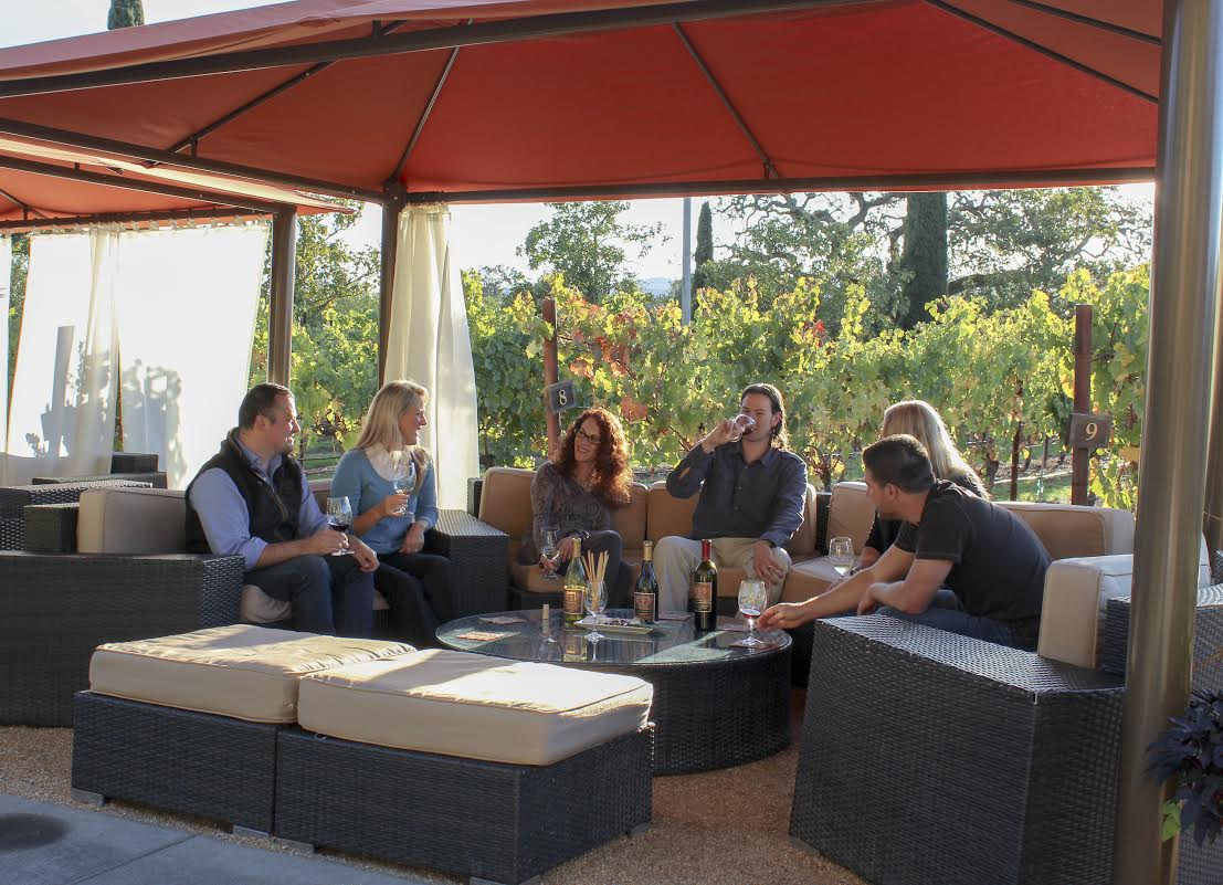 Inside a Private Tasting in a Cabana Overlooking Clos Du Val's Stags Leap Vineyard