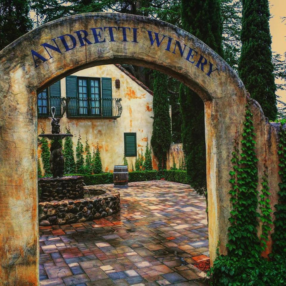 Andretti Winery entrance