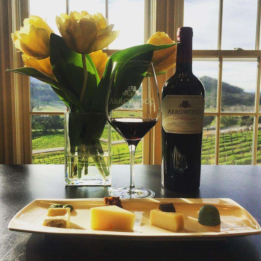 Arrowood wine and cheese